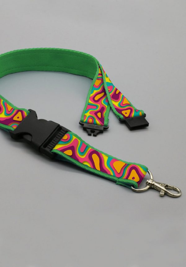 Lanyards premium doble clip y safety