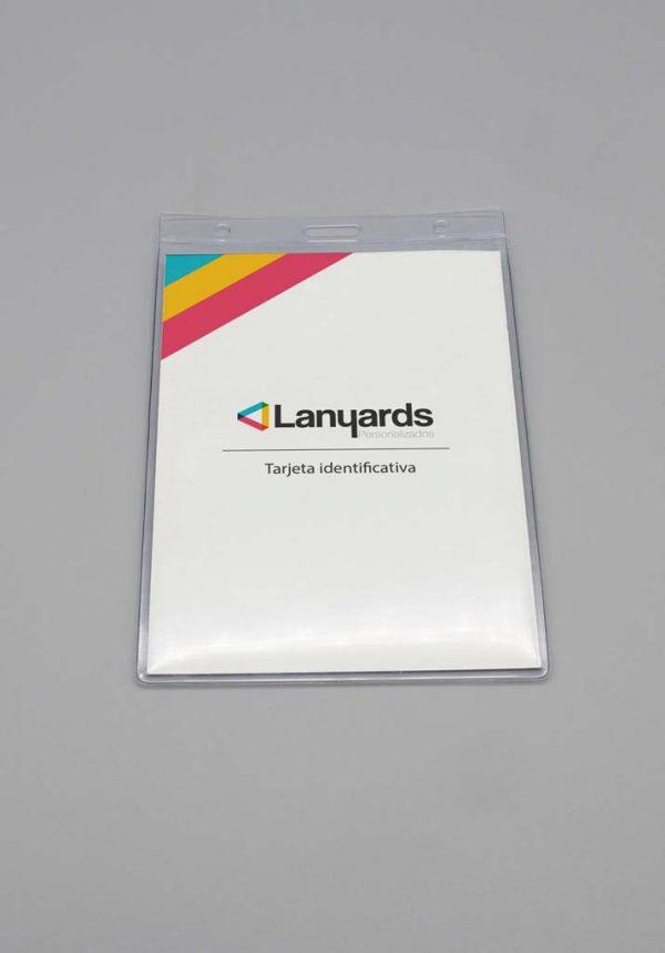 Porta tarjetas flexible vertical con formato A6