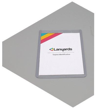 Porta tarjetas de identificacion semirrigido vertical
