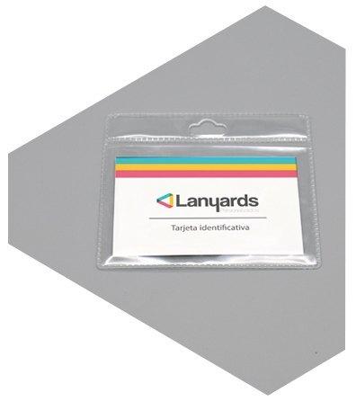 Porta tarjetas de identificacion flexible