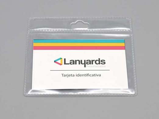 Porta tarjetas flexible pequeño horizontal